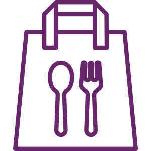 Icono de bolsa de comida para llevar Bera