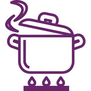 Icono de olla de comida casera de Bera