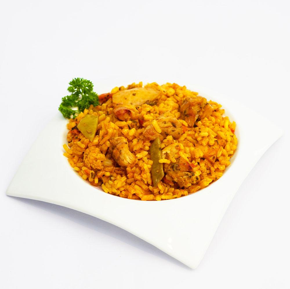 Arroz con pollo y verduras - Comida a domicilio BERA