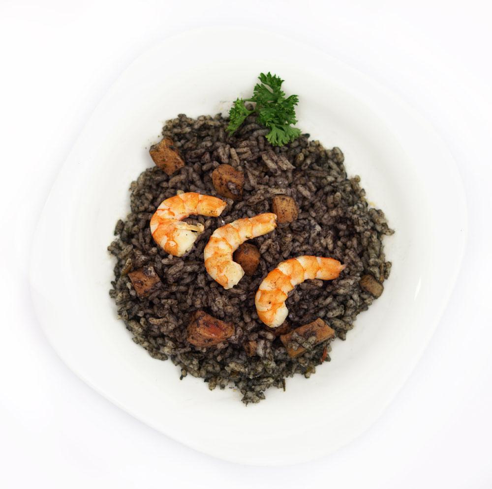 Comprar plato preparado de arroz negro con sepia y langostinos BERA