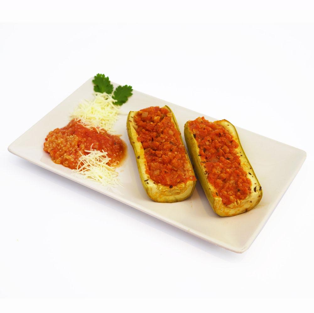 Calabacín relleno boloñesa y quinoa - Comida a domicilio BERA