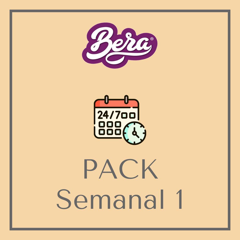 Pack Semanal 1 - Platos Preparados BERA