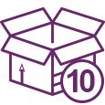 Icono caja 10 platos preparados Bera